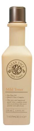Тонер для лица Clean Face Mild Toner 130мл
