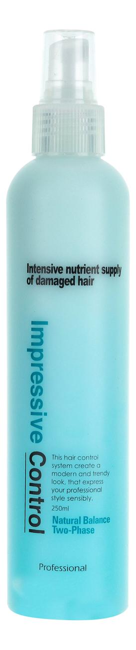 Фото - Несмываемый двухфазный спрей для увлажнения волос Mugens Impressive Control Natural Two-Phase 250мл спрей для волос восстанавливающий mugens zen care ss treatment 500мл