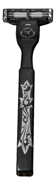 Titan 1918 Бритвенный станок Mach3 & Fushion (сталь): арт. 155574 (черный)