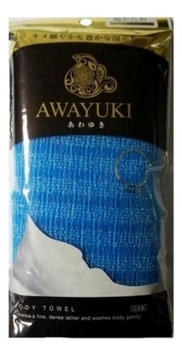 Массажная мочалка для тела сверхжесткая Awayuki Body Towel (голубая) ohe мочалка awayuki для тела сверхжесткая удлиненная синяя 28х100 см 1 шт
