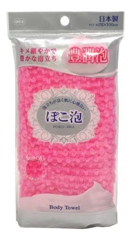 Фото - Массажная мочалка для тела средней жесткости Poko Awa Body Towel: Розовая мочалка ohe cure series 110х23см средней жесткости жёлтая нейлон