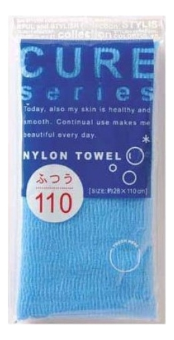 Фото - Массажная мочалка для тела средней жесткости Cure Nylon Towel: Синяя мочалка ohe cure series 110х23см средней жесткости жёлтая нейлон