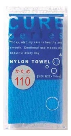 Фото - Массажная мочалка для тела жесткая Cure Nylon Towel: Синяя мочалка ohe cure series 110х23см средней жесткости жёлтая нейлон