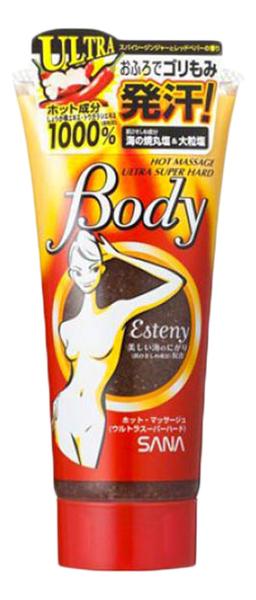 Массажный гель-скраб для тела с морской солью Esteny Hot Massage Body Ultra Super Hard 240г sana массажный гель для тела 180 г sana для тела