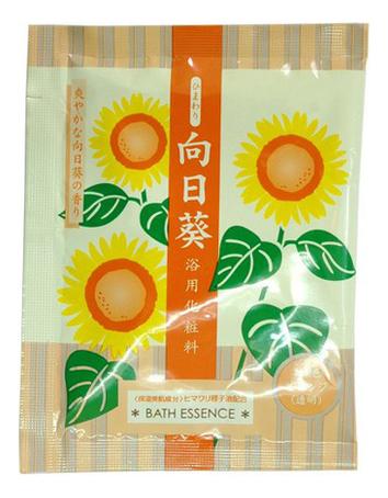Соль для ванны увлажняющая с маслом подсолнечника Bath Essence 25г