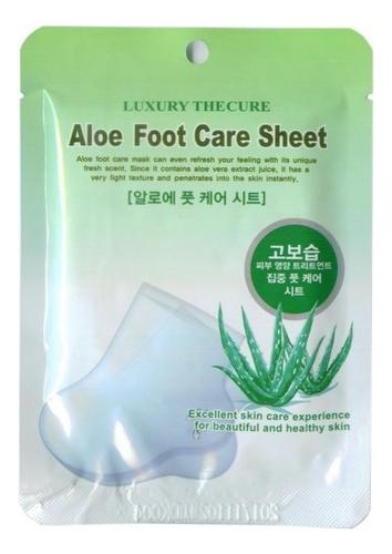 Маска для ног с экстрактом алоэ Luxury The Cure Aloe Foot Care Sheet 2*8мл