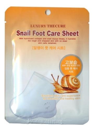 Маска для ног с экстрактом слизи улитки Luxury The Cure Snail Foot Care Sheet 2*8мл