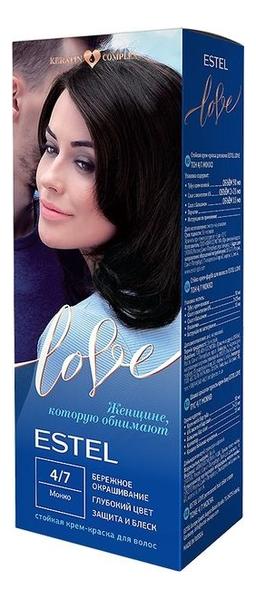 цена на Стойкая крем-краска для волос Love: 4/7 Мокко