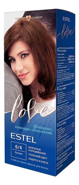 Купить Стойкая крем-краска для волос Love: 6/4 Каштан, ESTEL