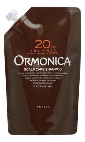 Купить Органический шампунь для волос и кожи головы Organic Scalp Care Shampoo: Шампунь 400мл (сменный блок), Ormonica