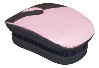 Расческа для волос в металлическом корпусе Pocket Black Metallic (мини-версия): Rose ikoo pocket расческа для волос black oyster metallic