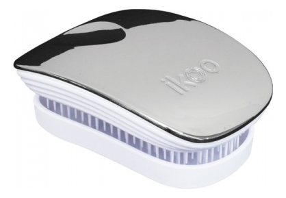 Расческа для волос в металлическом корпусе Pocket White Metallic (мини-версия): Oyster ikoo pocket расческа для волос black oyster metallic