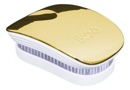 Расческа для волос в металлическом корпусе Pocket White Metallic (мини-версия): Soleil ikoo pocket расческа для волос black oyster metallic
