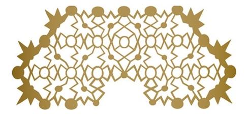 Наклейка для лица Hipstar Transfer Mask : Satin Gold