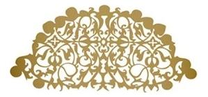 Наклейка для лица Renaissance Demi Veil : Satin Gold