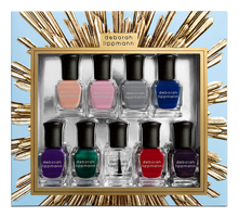 Deborah Lippmann Набор лаков для ногтей Her Majesty 9*8мл (Emperor's New Clothes + Ever After + King Of The Road + Blue Blood + Crown Velvet + If I Ruled The World + Hard Rock + Reign Of Love + Queen Of The Nigh)