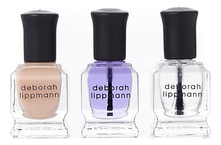Deborah Lippmann Набор Treat Me Right (масло д/кутикулы Cuticle Oil 8мл + топовое покрытие-сушка Addicted To Speed 8мл + многофункциональная CC-база All About That Base 8мл)