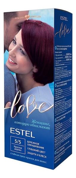 Стойкая крем-краска для волос Love: 5/5 Красное дерево стойкая крем краска фитокосметик fitocolor для волос 5 6 красное дерево 125мл