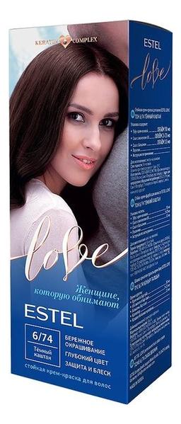 Купить Стойкая крем-краска для волос Love: 6/74 Темный каштан, ESTEL