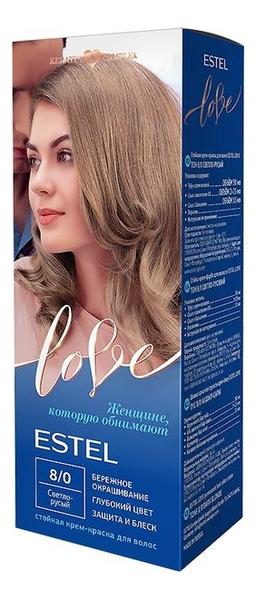 цена на Стойкая крем-краска для волос Love: 8/0 Светло-русый