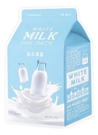 Купить Маска для лица с экстрактом молока White Milk One-Pack 21г, A'PIEU
