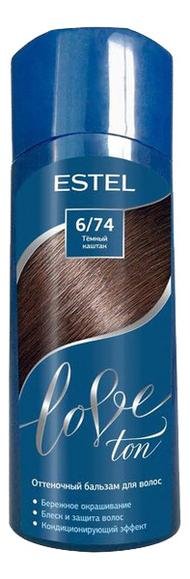 оттеночный бальзам для волос estel love ton 6 65 вишня lt6 65 Оттеночный бальзам для волос Love Ton 150мл: 6/74 Темный каштан
