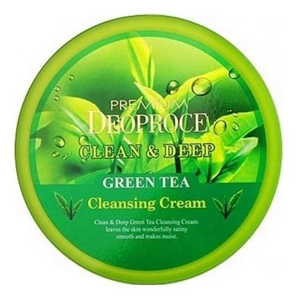 Купить Крем для лица очищающий с экстрактом зеленого чая Premium Clean & Deep Green Tea Cleansing Cream 300г, Крем для лица очищающий с экстрактом зеленого чая Premium Clean & Deep Green Tea Cleansing Cream 300г, Deoproce
