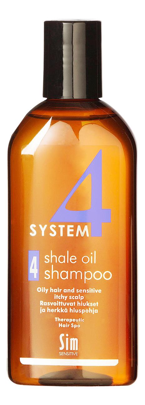 Купить Шампунь No 4 для очень жирных волос System 4 Shale Oil Shampoo: Шампунь 215мл, Sim Sensitive