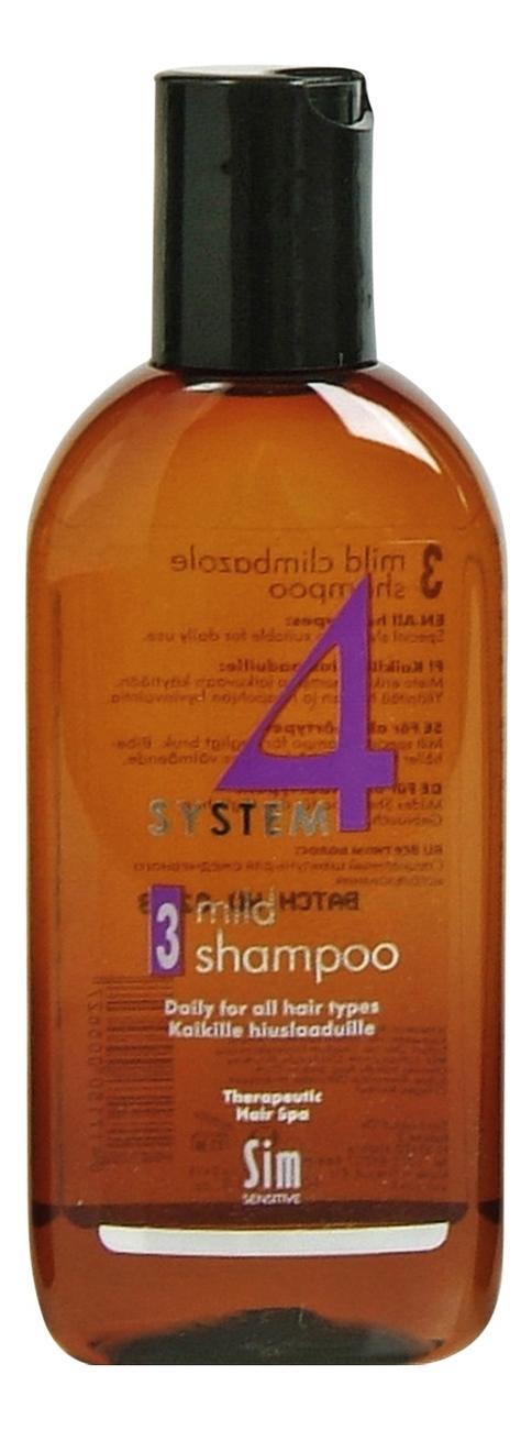 Шампунь No 3 для профилактики волос System 4 Mild Shampoo: Шампунь 100мл sim sensitive комплекс от выпадения волос шампунь 100мл маска 100мл сыворотка 100мл sim sensitive system 4