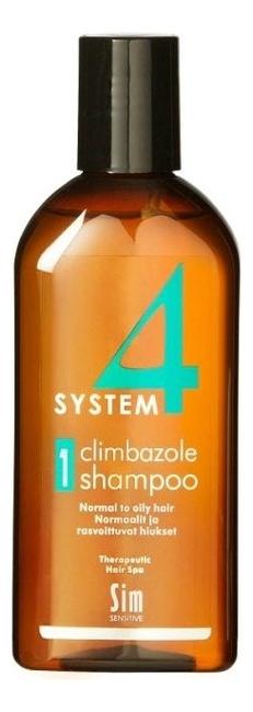Шампунь No 1 для нормальных и жирных волос System 4 Climbazole Shampoo: Шампунь 100мл sim sensitive комплекс от выпадения волос шампунь 100мл маска 100мл сыворотка 100мл sim sensitive system 4