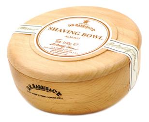 Твердое мыло для бритья в чаше из бука Shaving Bowl 100г: Almond (миндаль)