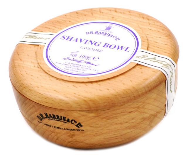 Твердое мыло для бритья в чаше из бука Shaving Bowl 100г: Lavender (лаванда)