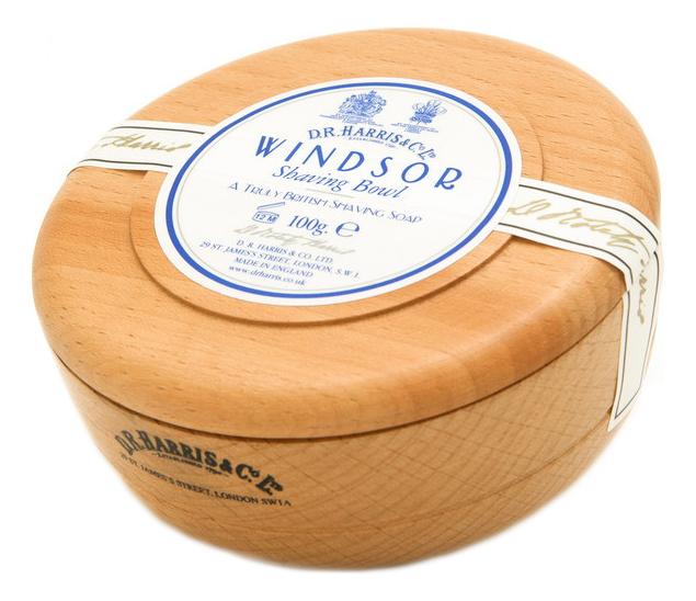 Твердое мыло для бритья в чаше из бука Shaving Bowl 100г: Windsor (цитрус)