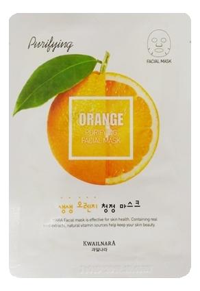 Маска для лица очищающая Kwailnara Orange Purifying Facial Mask 20мл недорого