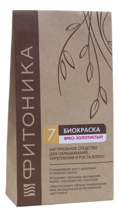 цена на Биокраска для волос Фитоника 150г: No7 Ярко-золотистый