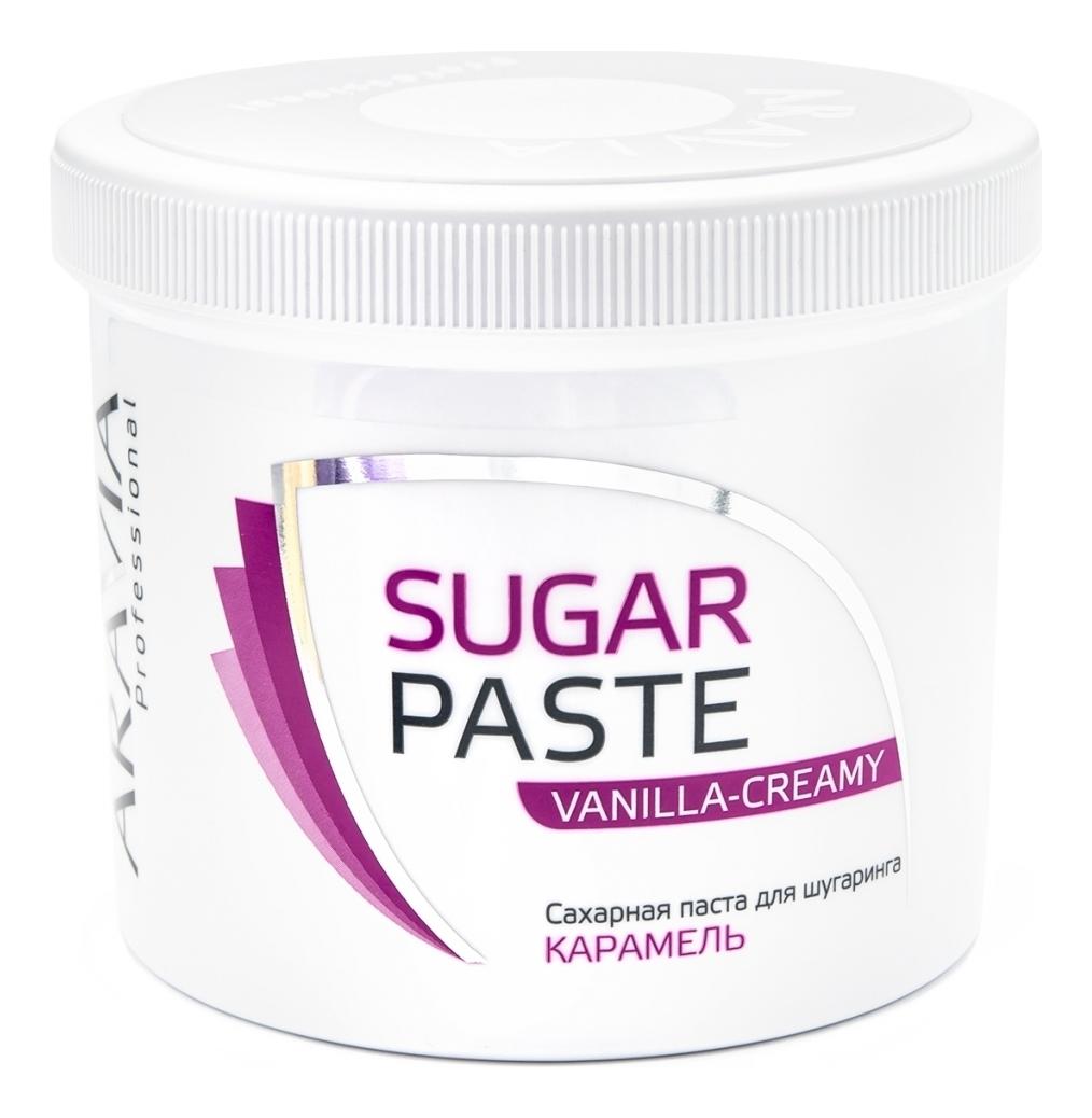 Купить Карамель для депиляции плотной консистенции Ванильно-сливочная Professional Caramel Vanilla-Creamy 750г, Aravia