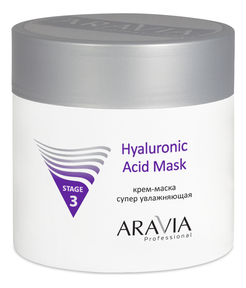 Купить Крем-маска для лица супер увлажняющая Professional Hyaluronic Acid Mask Stage 3 300мл, Aravia