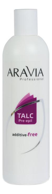 Тальк без отдушек и химических добавок Professional Talc Pre-Epil: Тальк 300мл aravia professional тальк без отдушек и добавок 150 мл 100 г