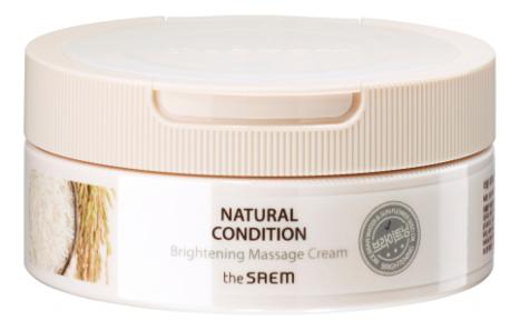 Крем массажный для яркости кожи Natural Condition Brightening Massage Cream 200мл гирудотонус крем массажный