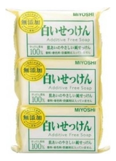 Туалетное мыло на основе натуральных компонентов Additive Free Soap 3*108г недорого