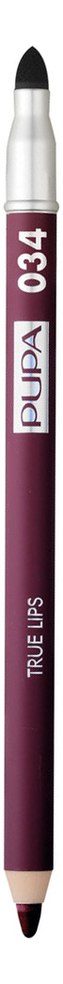 Карандаш для губ с аппликатором True Lips Pencil 1,2г: 034 Red Plum