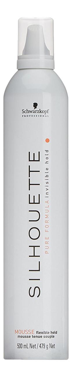 Мусс для мягкой фиксации волос Silhouette Flexible Hold Mousse 500мл
