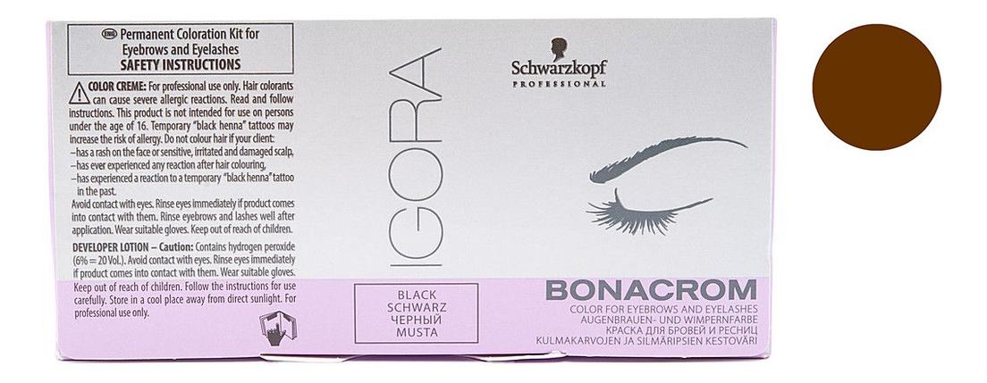 Краска для бровей и ресниц Igora Bonacrom (краска 15мл + окислитель 10мл): Коричневая