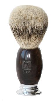 Titan 1918 Помазок для бритья арт. 105919 (щетина серебристого барсука, черное дерево)