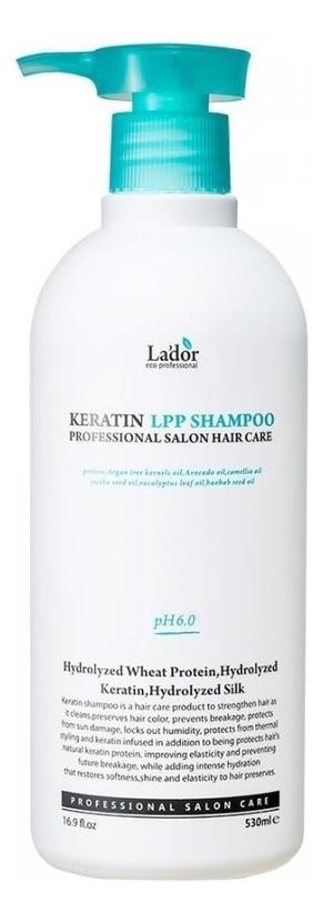 Купить Шампунь для волос кератиновый Keratin Lpp Shampoo: Шампунь 530мл, La`dor
