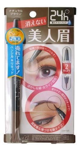 Водостойкая жидкая подводка + карандаш для бровей 2 в 1 Brow Lash Ex Water Strong Eyebrow Liquid & Liner: Коричневый водостойкая подводка для глаз brow lash ex насыщенный черный