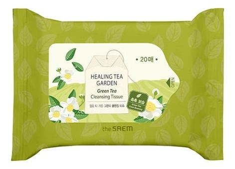 Салфетки очищающие с экстрактом зеленого чая Healing Tea Garden Green Tea Cleansing Tissue: Салфетки 20шт