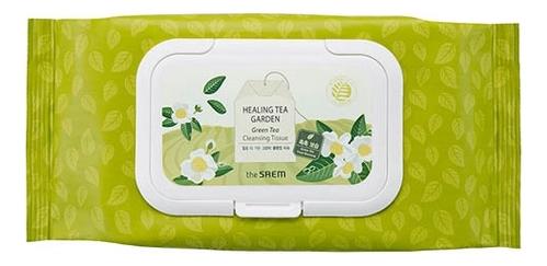 Салфетки очищающие с экстрактом зеленого чая Healing Tea Garden Green Tea Cleansing Tissue: Салфетки 60шт