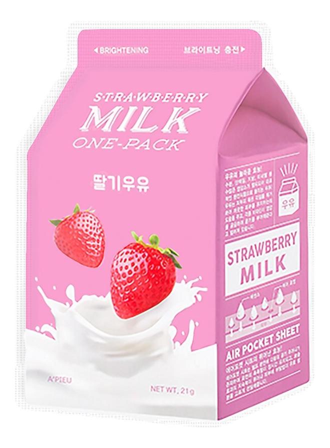 Купить Тканевая маска для лица Strawberry Milk One-Pack 21г, A'PIEU
