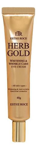 Крем для век омолаживающий Estheroce Herb Gold Whitening Wrinkle Care Eye Cream 40г недорого